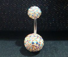 Cute belly rings navel ring bar button disco ball body by owlstory, $8.05