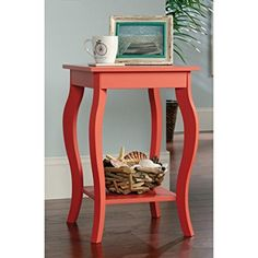 Sauder Harbor View Side Table in Desert Coral