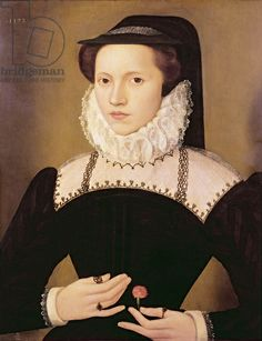 Portrait of Anne Waltham, 1572 (oil on panel), Quesnel, Francois (1543-1619) / Collection of Earl Spencer, Althorp, Northamptonshire, UK / T...