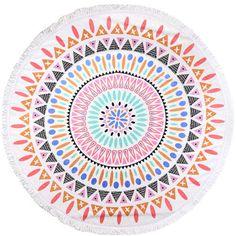 Beautiful Designer Bohemia Print High Quality Large Round 100% Cotton Beach Towel 20 Styles                                                                                                                                                     Más