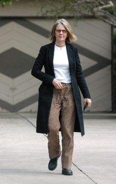 Diane Keaton and her signature quirky style runs errands in Brentwood.