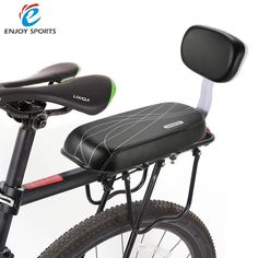 Bicycle Child Seat Cover Bike Rack Cushion For Kid's Biking Seat With Back Saddle Cycle Accessories Parts Bicicleta PU Leather