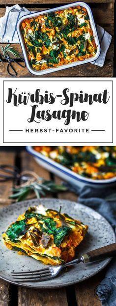 Hast du Lust auf einen super leckeren herbstlichen Auflauf? Dann probier doch mal unsere Kürbislasagne mit Spinat, Champignons, Weißwein und Salbei!