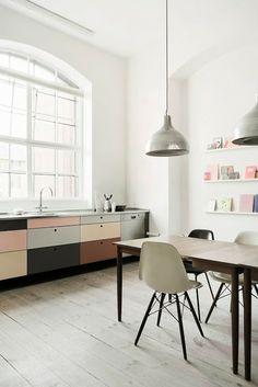 Une cuisine aux tons pastels
