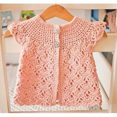 Easy Tutorial for this baby cute cardigan that Works up quickly