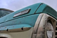 Ford Truck  Light Blue F 250  Vintage Auto  by ScarolaPhotography