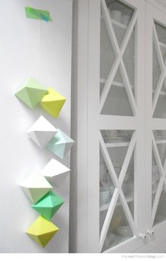 Get creative with your decor by making these 3D paper gems.