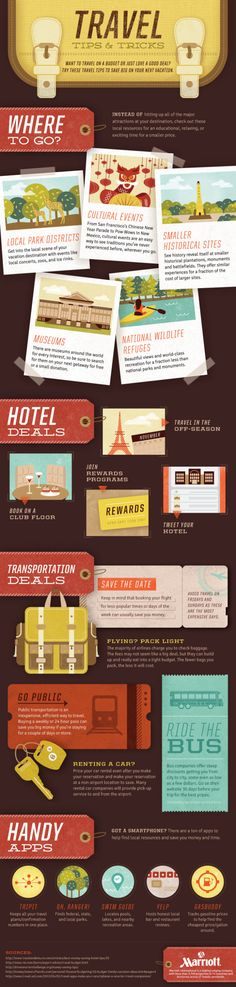 Love to #travel but on a budget? Take a gander at this Travel Tips and Trips #Infographic before your next excursion. :)