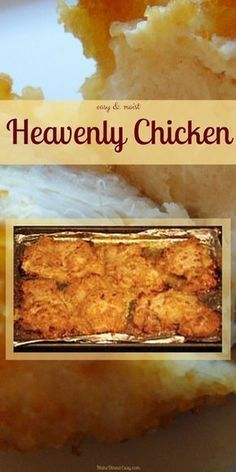 Heavenly Chicken, Baked Chicken Breast Recipe The sour cream/yogurt and cracker crumb coating helps to keep the moisture in the chicken. I have a teenager who never wants to eat chicken for dinner, but this is one chicken dish he loves! Heavenly Chicken Recipe, Chicken Thights Recipes, Le Diner, Healthy Chicken Recipes, Turkey Recipes, Bonless Chicken Recipes, Recipes With Chicken Pieces, Fish Recipes, Boneless Chicken Recipes Easy