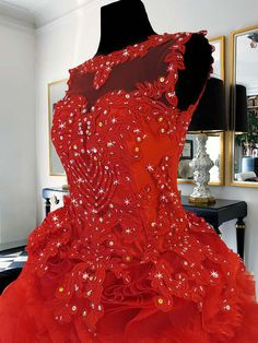 75c79c0cd1 red ball gown with lace and beadwork for rent Php3