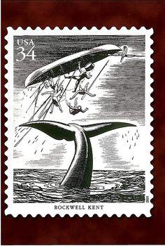 34c American Illustrators Rockwell Kent Scott # 3502q
