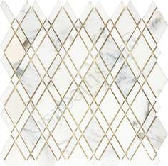 Champion Tile  Backsplash, Diamond, Calacatta Gold Marble, Polished, White…