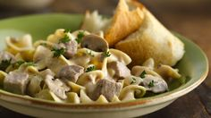 Slow-Cooker Beef Stroganoff Stew — Family-favorite beef stroganoff just got easier with this simple slow-cooker version - no pre-cooked noodles required!