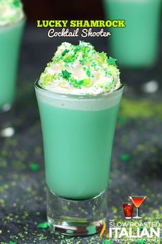 Lucky Shamrock Cocktail Shooters