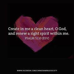 REDE MISSIONÁRIA: CREATE IN ME A CLEAN HEART, O GOD (PSALM 51:10)
