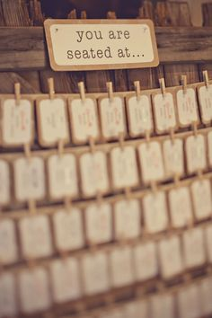 escort cards you are seated