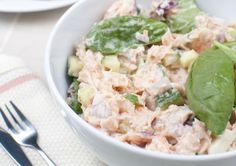"""Wild Salmon Salad - This recipe is an upgrade on the classic tuna salad. I use canned wild salmon instead, which is one of the best sources of fats and vitamin D"" Canned Salmon Salad, Canned Salmon Recipes, Salmon Salad Recipes, Fish Recipes, Seafood Recipes, Dinner Recipes, Cooking Recipes, Healthy Recipes, Tuna Salad"