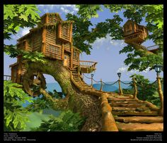 Not a real treehouse. A virtual oneI modeled for the love of them http://charlielui.net/images/stories/portfolio/item_original/1_1267174359...