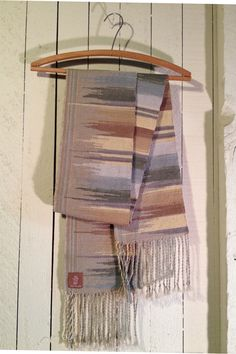 Clasped Weft Hand Woven Scarf by kylewilliam on Etsy