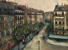 Maurice Utrillo - Rue Custine à Montmartre, 1909-10, oil on cardboard