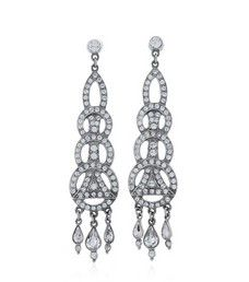 1920s Charleston Earring  | Bridal Earrings | 30070137 $230