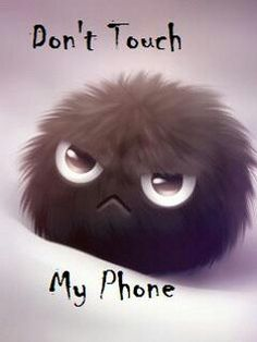 Don't touch my phone.