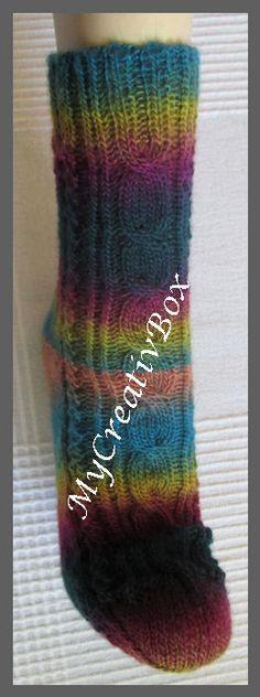 """Socken """"Bailys"""" für Gr. 32-47, Anleitung von MyCreativBox, gestrickt mit Sockenwolle 4-fach"""
