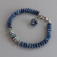 Lapis Lazuli Labradorite Spectrolite Sterling Silver by DJStrang Sterling Silver Bead Bracelet, Gemstone Bracelets, Handmade Bracelets, Jewelry Bracelets, Jewelery, Necklaces, Strand Bracelet, Earrings Handmade, Silver Earrings