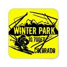 Winter Park Colorado ski elevation yellow stickers #winterpark #colorado #ski  ArtisticAttitude.net
