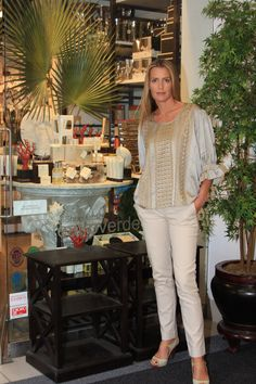An India Hicks window display in Toronto's Teatro Verde.