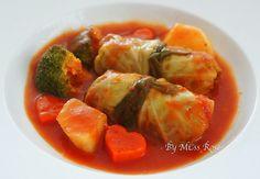 茄汁高麗菜卷食譜、作法 | 玫瑰小姐的多多開伙食譜分享