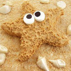 Peanut butter fudge starfish. Love it!