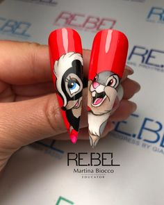 Disney Acrylic Nails, Long Acrylic Nails, Disney Nails, Nails Only, Love Nails, My Nails, Painted Nail Art, Hand Painted, Super Cute Nails