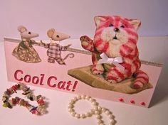 Bagpuss Handmade Any Occasion Card Easy Cards, Cool Cats, Over The Years, Card Stock, Teddy Bear, Crafty, Cool Stuff, Toys, How To Make