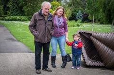 """""""What's your favourite thing about Grandpa?"""" """"Being able to hide from him in the garden when playing hide and seek!"""" #cheltenham #england #grandpa #hideandseek #grandparent"""