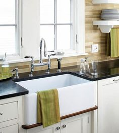 Window Over Sink Basin Sink And Yellow Kitchens On Pinterest
