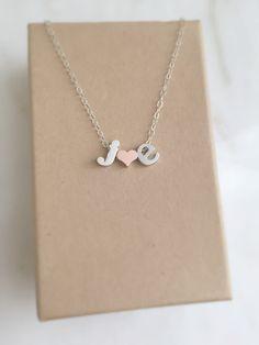 Erste Herz-Halskette Silberkette von littlecharmingstudio auf Etsy