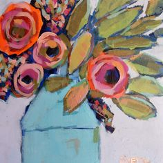 "Found it at Wayfair - ""Wild Bouquet"" by Michelle Rivera Painting Print on Wrapped Canvas"