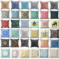 Vintage Cotton Linen Throw Waist Pillow Case Cushion Cover Home Sofa Decor Boho Throw Pillows, Cushions On Sofa, Throw Pillow Covers, Home Sofa, Plain Cushions, Sims 4 Cc Furniture, Pillowcase Pattern, Moroccan Decor, Car Covers