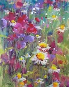 New Wildflower Painting with Demo, painting by artist Karen Margulis