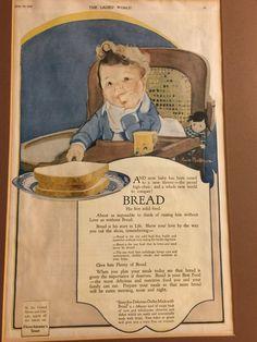 Vintage Bread Advertisement Ladies World 1913 Color Ready To Hang Kitchen Decor    eBay