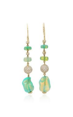 Medium pamela huizenga multi opal earrings
