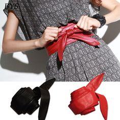 Fashion Women Accessory PU Leather Obi Style Wrap around Tie Corset Cinch Waist Wide Belt Ladies Dress Waistband Cummerbund