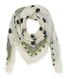 Aeropostale Womens Sheer Skull Scarf 047 Classic Sheer wrap around scarf. Skull print design. Fringed ends. (Barcode EAN = 0635353248511). http://www.comparestoreprices.co.uk/december-2016-5/aeropostale-womens-sheer-skull-scarf-047-classic.asp