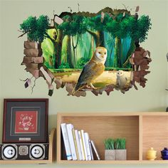 3d DIY  Owl on Tree Wall Sticker Wallpaper Stickers Art Decor Mural Kid's Child Room Decal Home Decoration