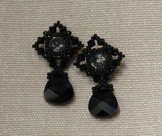 Sidonia's handmade jewelry - Beaded Stud Earrings tutorial
