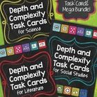 Depth and Complexity Task Cards Bundle {Science, Social St