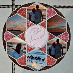 Layout Created by Karen Morley using LeaFrance Rose Window Stencil