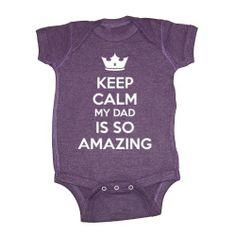 So Relative! Keep Calm My Dad Is So Amazing Baby Bodysuit (Vintage Purple, 6 Months) So Relative!,http://www.amazon.com/dp/B00KAIW9PG/ref=cm_sw_r_pi_dp_A9JFtb0JDF1E6QWX