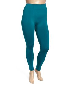 This Teal Fleece-Lined Leggings - Plus by 2NE1 Apparel is perfect! #zulilyfinds